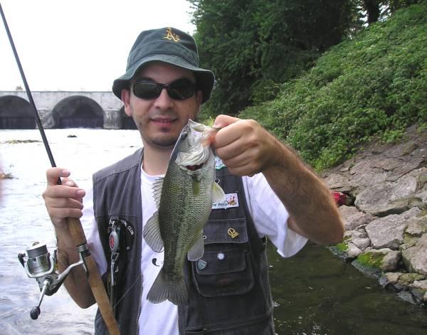 Black bass o boccalone  pescato da  Alessio